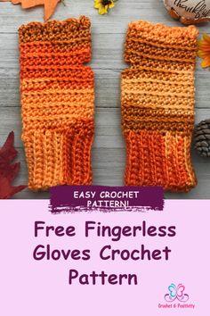 Crochet Fingerless Gloves Free Pattern, Crochet Baby Sweater Pattern, Baby Sweater Patterns, Fingerless Gloves Knitted, Crochet Hand Warmers, Easy Crochet, Crochet Crafts, Crochet Projects, Free Crochet