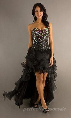 Sleeveless A-Line Prom Dresses Black Tie Prom Dresses 04787