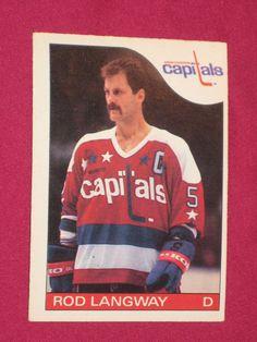1985 86 8 Rod Langway O Pee Chee Washington Capitals NHL Hockey Card B 13e65d483c27