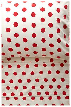 Loooove these polka dot sheets!!! Anthropologie - Freshly Cut
