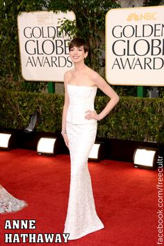 Anne Hathaway at the 70th Annual Golden Globe Awards 2013