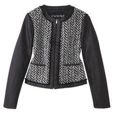 Mossimo® Women's Boucle Blazer -Black