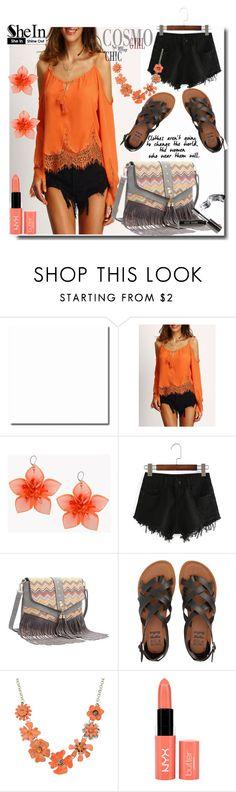 """""""8#SheIn"""" by fatimka-becirovic ❤ liked on Polyvore featuring Dsquared2, Billabong, Shourouk, NYX and Bobbi Brown Cosmetics"""