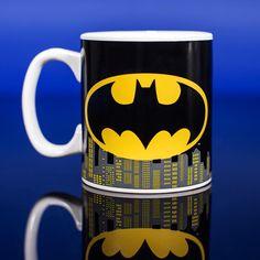 Batman Heat Changing Mug Superhero Gifts, Superhero Characters, Your Favorite, Batman, Mugs, Tableware, Comics, Dinnerware, Tumblers