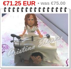 #Wedding Cake topper.  This is an example of a custom made Wedding Cake topper  Created by Cristina Sierras, Physiotherapist #Bride and fearful Groom. I can customize the d... #wedding #bride #groom #marroriage