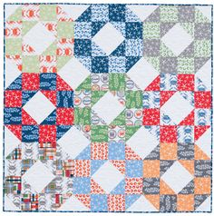 Pieces of Eight quilt from the book Large-Block Quilts