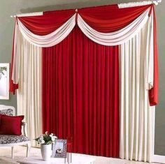 Elegant Curtains, Modern Curtains, Hanging Curtains, Drapes Curtains, Valances, Backdrop Decorations, Curtain Designs, Window Treatments, Living Room Decor