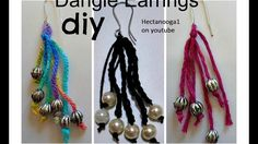 HOW TO CROCHET Easy Boho DANGLE EARRINGS, crochet jewelry.  Just in time for mother's day!