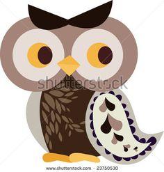 Cute Owl Stencil | Owl Design 2 Stock Vector 23750530 : Shutterstock