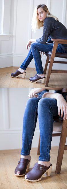 Claire clog in mahogany www.bryrstudio.com