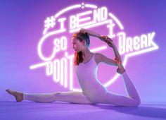 Yoga + Neon Typography2
