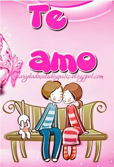 Tarjeta linda de Te Amo con pareja en tono rosa