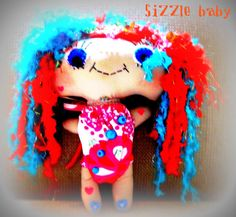 Rainbow cute cloth Doll by janeylaughs on Etsy, $59.00