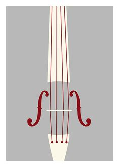 Violin poster digital music print Violin by bearandrobotstudio