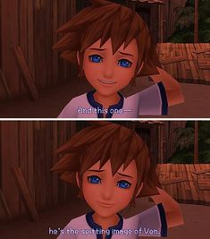Isn't little Sora so cute?! I would give him lots of sweets if he showed me this face X3