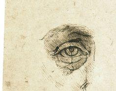 Leonardo da Vinci - Study of proportions (detail) - Lost in America