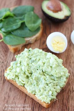 Easy Avocado Egg Salad Recipe on www.twopeasandtheirpod.com The BEST egg salad ever!