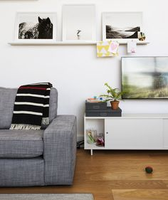 Use a Ledge as a Mini Mantel | There's plenty of great home improvement and decorating content to enjoy.