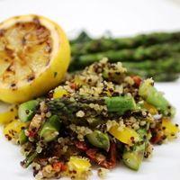 Asparagus & Quinoa Salad with Charred Lemon Dressing.