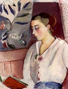 Moça com livro vermelho Leander Engström, o velho (Suécia, 1886-1927) óleo sobre tela, 71 x 56 cm