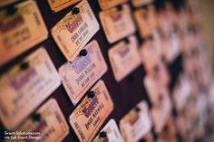Finding your table at an event can be tricky when hundreds of guests are involved, but more and more planners are introducing ways to make finding your seat interesting and fun. Find inspiration from these creative escort cards and mold them for use