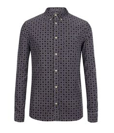 Men's autumn buys: All Saints geometric print cord shirt