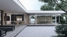 jardin de maison avec design moderne