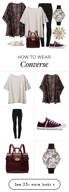 Ashley by didiiidia on Polyvore featuring Olivia Burton, J Brand, Uniqlo, Converse, Mulberry, womens clothing, womens fashion, women, female and woman