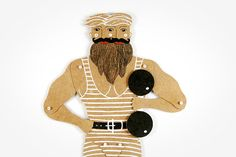 Strongman  Articulated Paper Doll by Dubrovskaya. by dubrovskaya, $15.00