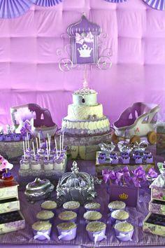 Purple Princess + Sofia the First Themed Birthday Party via Kara's Party Ideas KarasPartyIdeas.com #PrincessParty #SofiaTheFirstParty #Paryt...