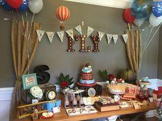 Vintage Airplane Birthday Party Ideas Vintage airplanes Dessert