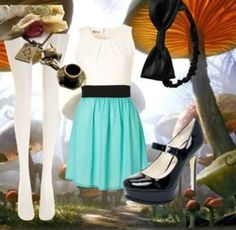 dress up as Alice in wonderland without dressing up check the page for 2 other ideas