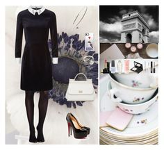 """""""Black And White Silhouette👠"""" by oksana-kolesnyk ❤ liked on Polyvore featuring SPANX, Ted Baker, NOVICA, Kevyn Aucoin, Dolce&Gabbana, Casetify, OPI, Christian Louboutin, 100% Pure and Victoria's Secret"""