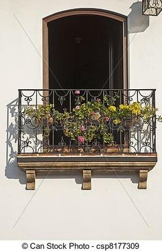 Wrought iron balcony Stock Photo Images. 574 Wrought iron balcony ...