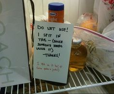 When these people shared a refrigerator, and some saliva. | 21 Times When Revenge Was Totally Worth It
