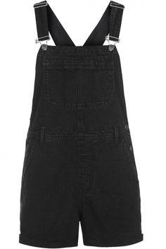 Topshop Black Short Dungarees, £38