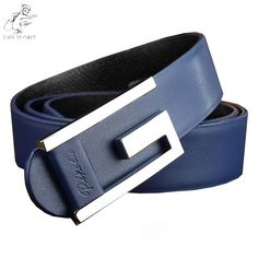 New Belt 2016 Brand Designer Belts Men Luxury First Layer Leather High Quality Cowhide Smooth Buckle  Cinturones Hombre Q110