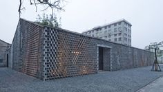 Archi Union Brick Facade, Shanghai warehouse transformed into exhibition building