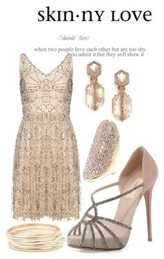 Untitled #60 by annabystrom on Polyvore featuring polyvore, fashion, style, Adrianna Papell, Valentino, Alexis Bittar, Catbird, Vince Camuto and clothing