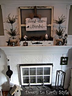 gorgeous nature inspired mantel