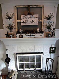 DIY rustic, simple, repurposed decorating.