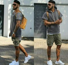 66 Cool Summer Shorts Shoes for Men - Fashion and Lifestyle Stylish Mens Outfits, Summer Fashion Outfits, Short Outfits, Casual Outfits, Outfits Fo, Streetwear Summer, Streetwear Fashion, Outfit Grid, Mens Clothing Styles