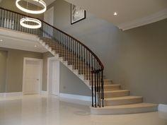 Stunning new stone staircase by the www.thestonemasonrycompany.co.uk