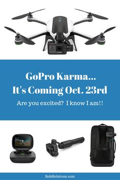 My Thoughts on GoPro Karma I'm super excited for the GoPro Karma to be released. Over the years I've shot video from the ground, water and now GoPro Karma's
