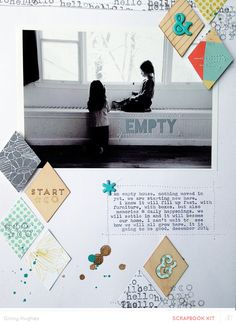 #Papercraft #scrapbook #layout. empty *main kit only* by ginny at @studio_calico - 8.5x11 layout