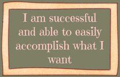 affirmations success