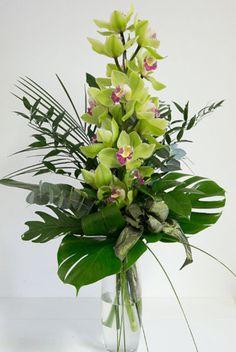 Contemporary Flower Arrangements, Tropical Flower Arrangements, Creative Flower Arrangements, Church Flower Arrangements, Orchid Arrangements, Beautiful Flower Arrangements, Flower Centerpieces, Flower Vases, Flower Decorations