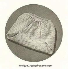 Vintage Crochet Soaker: Crochet Cloth diaper very cool!