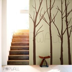 Vinyl Wall Art Sticker Wall Decal - Winter Tree decal -wall decals 084. $55.00, via Etsy.