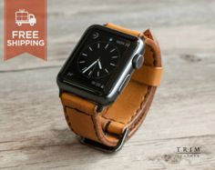 Apple Watch Band Leather Watch Bands Minimal in by TRIMleather